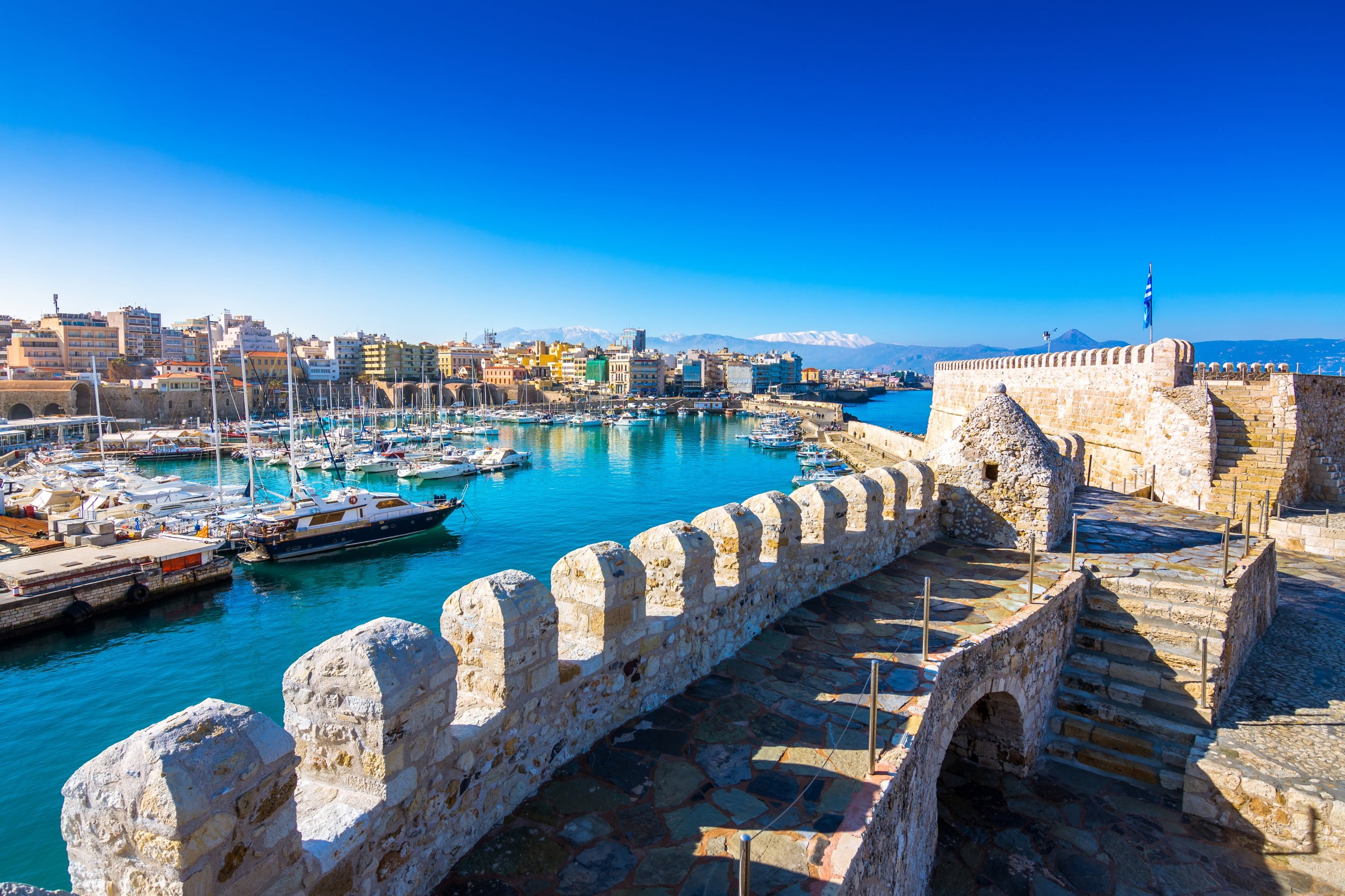 Heraklion Harbour Heraklion Crete Greece