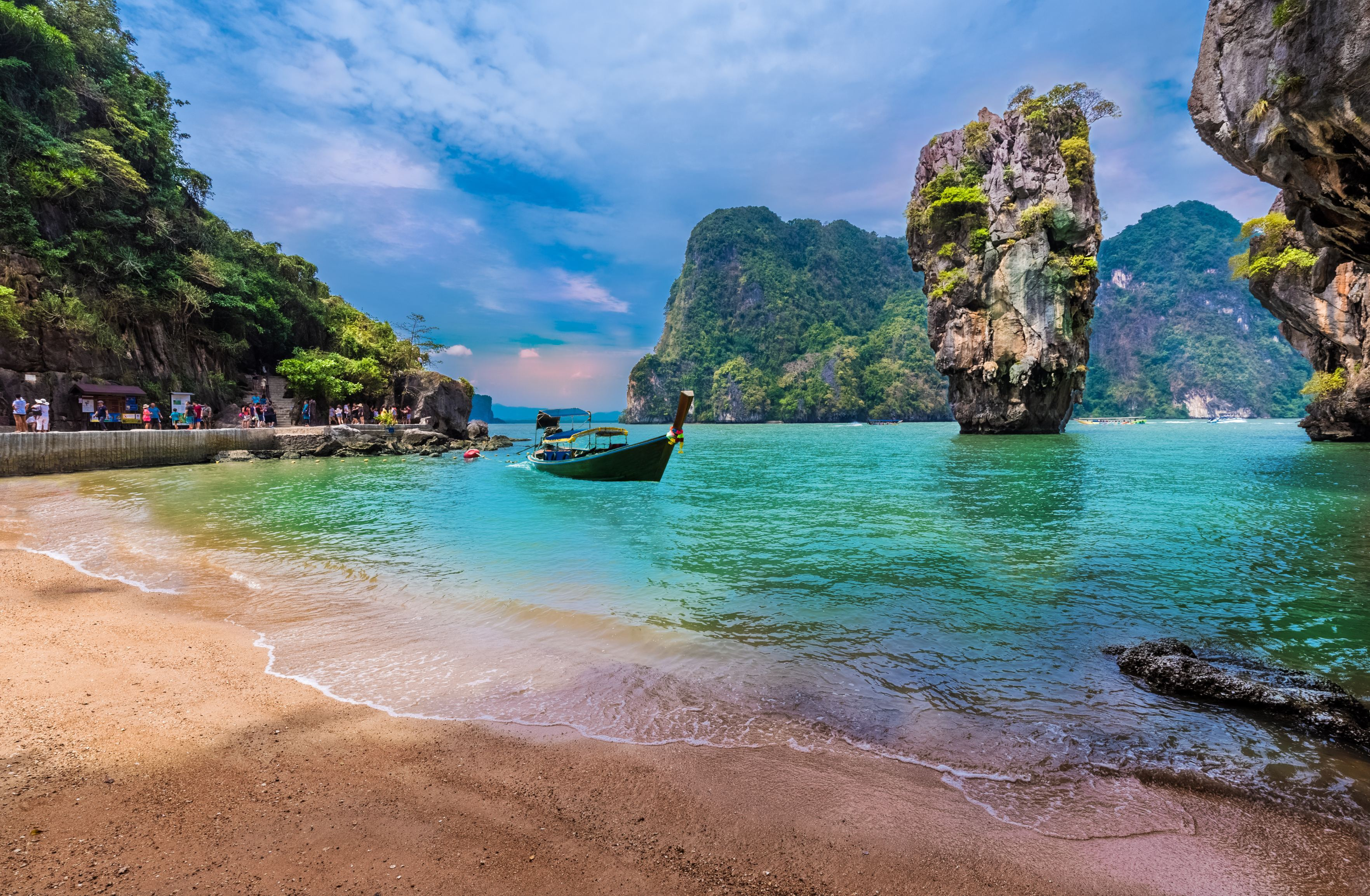 James Bond island and famous Khao Phing Kan stone in Thailand