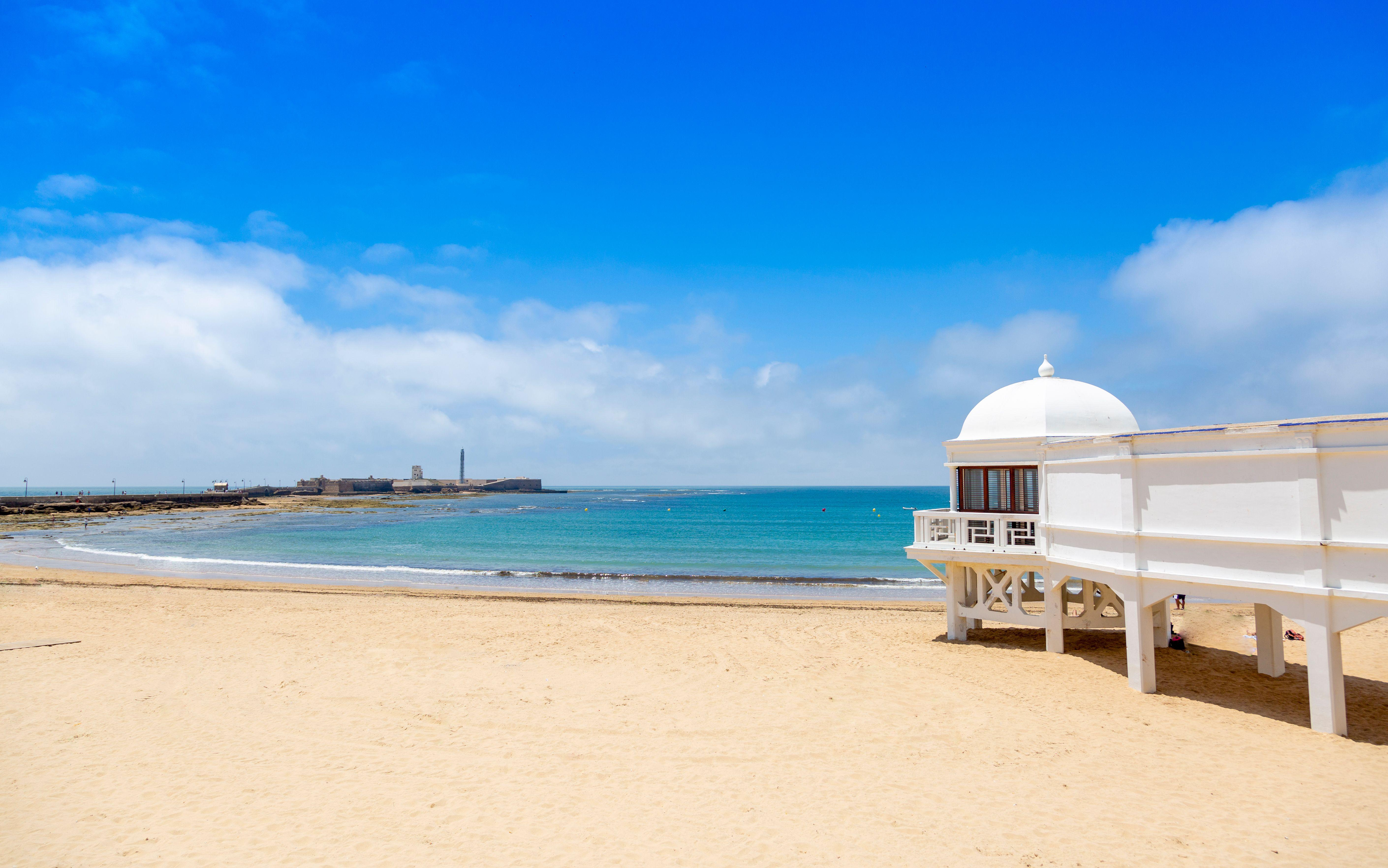 La Caleta Beach Cadiz Andalusia Spain