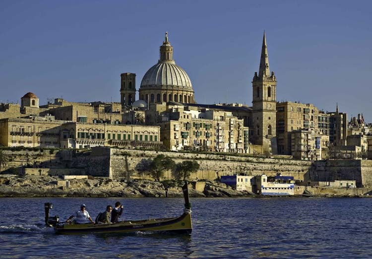 Malta – Valletta from Marsamxett Harbour 01 by Clive Vella