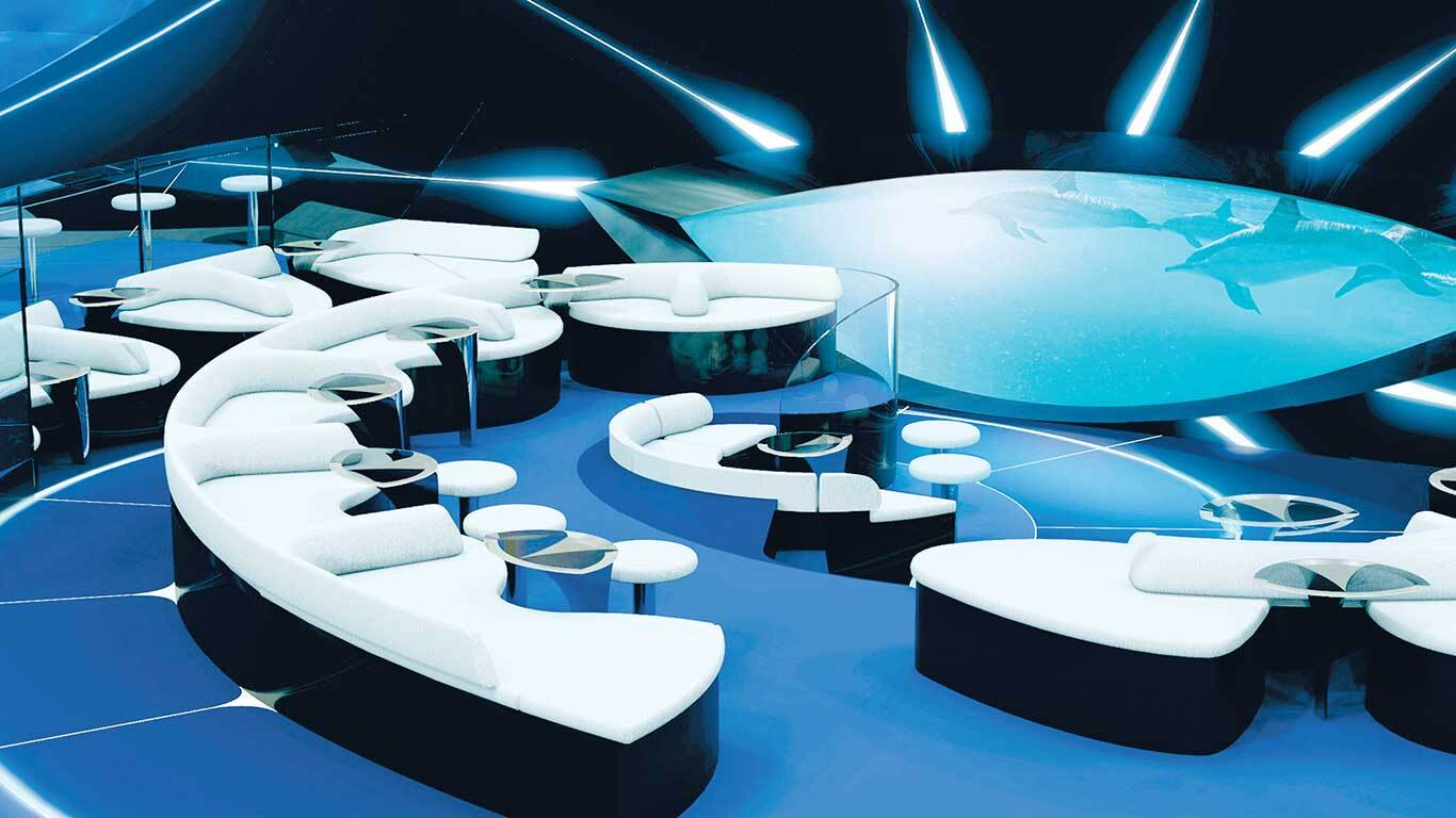 Ponant underwater lounge Blue Eye