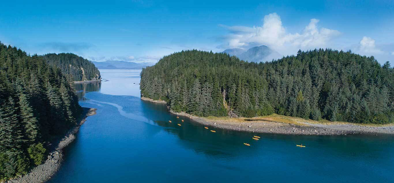 SBN ABC RSAY17 Kayaking Aerial Inian Islands Alaska cc