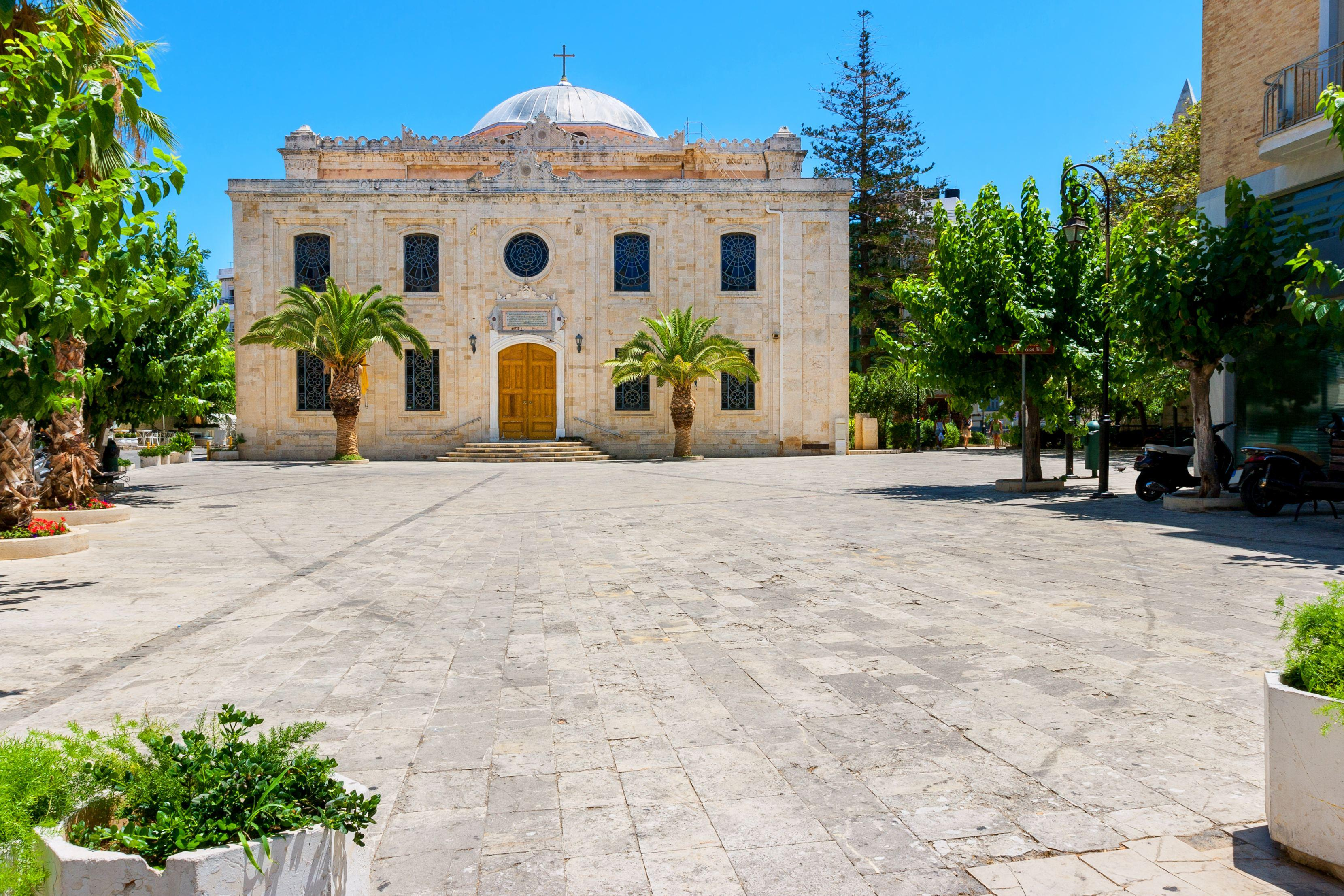 The church of Agios Titos in the centre of Heraklion Crete Greece