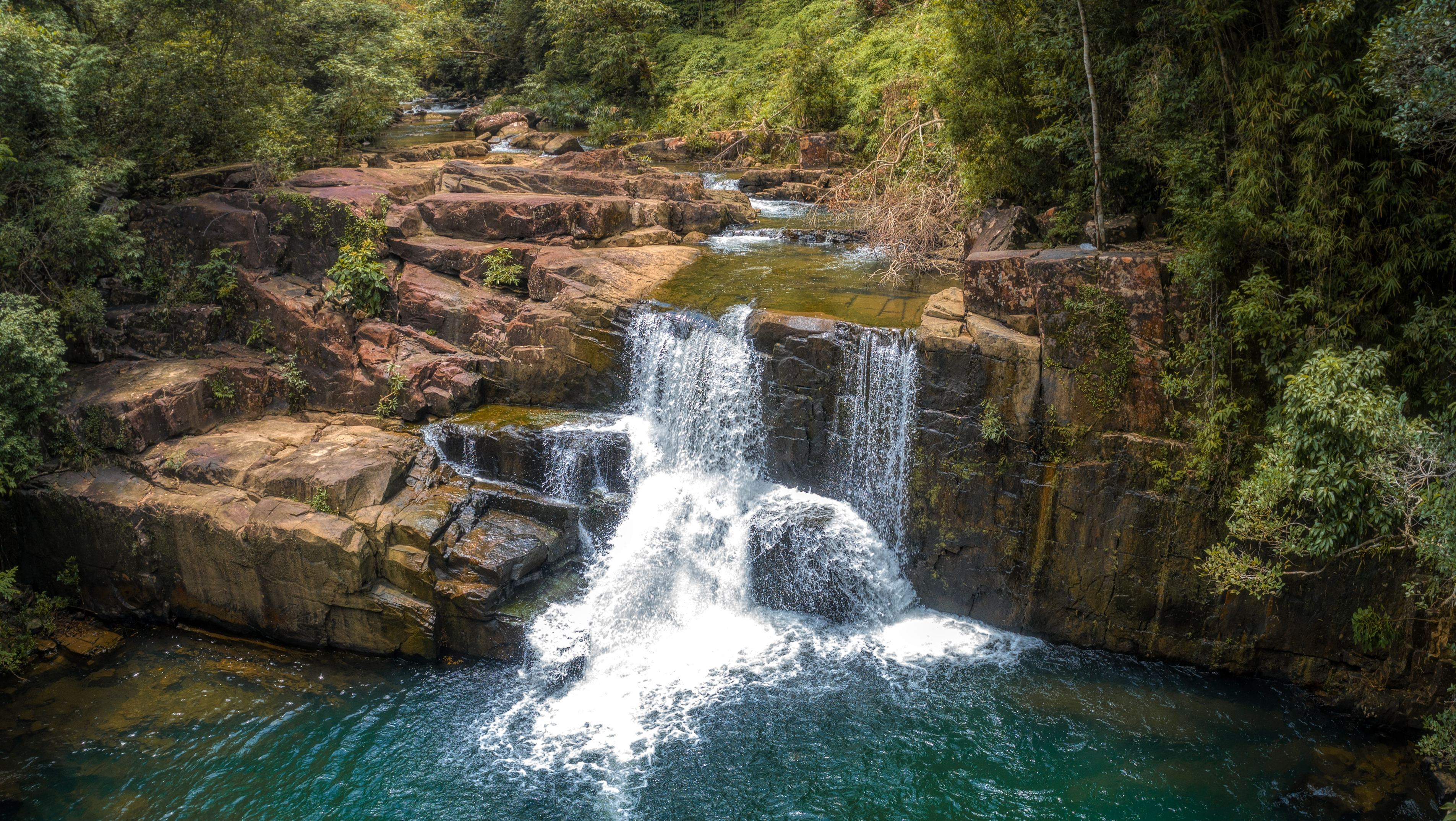 Tropical waterfall on Ko Kut in Thailand