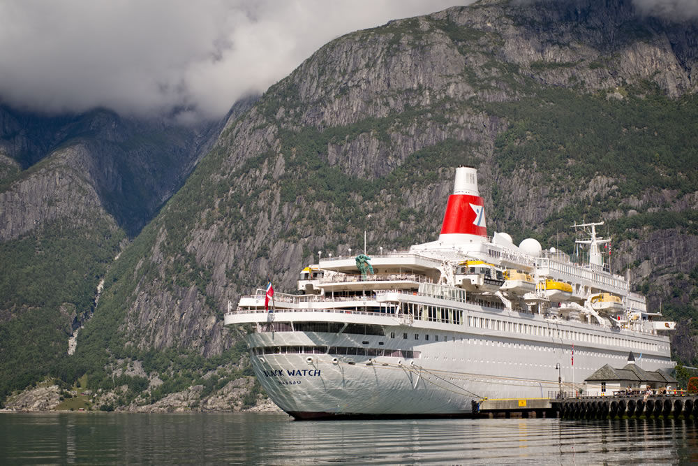 Black Watch docked in Eidfjord