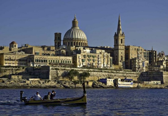 Malta - Valletta from Marsamxett Harbour 01 by Clive Vella