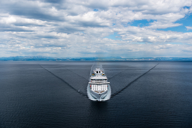 Regal Princess during her sea trials