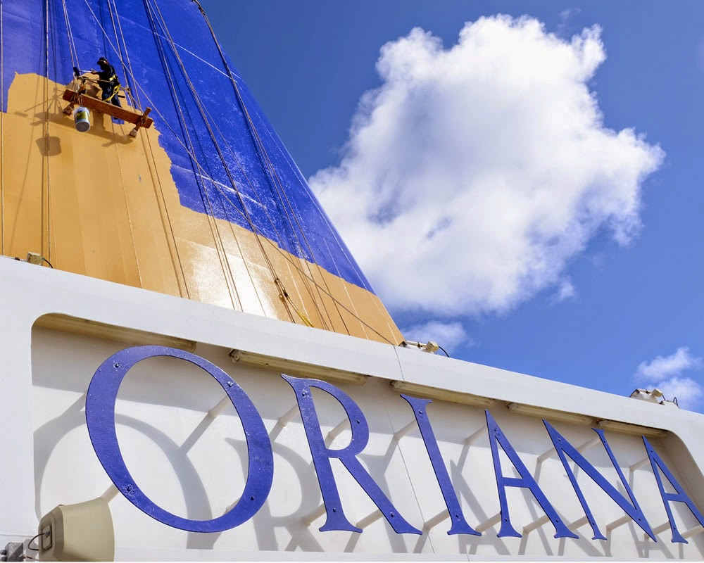 Oriana's new funnel livery