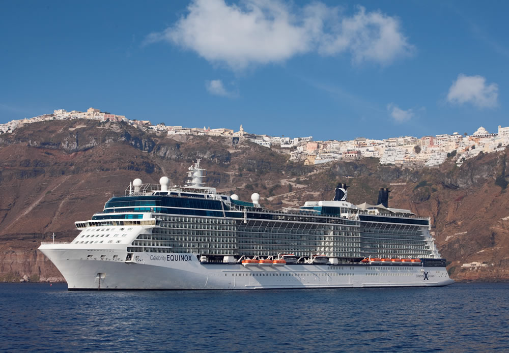 Celebrity Equinox in Santorini