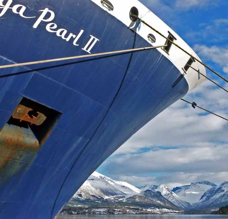 Saga Pearl II in Andalsnes