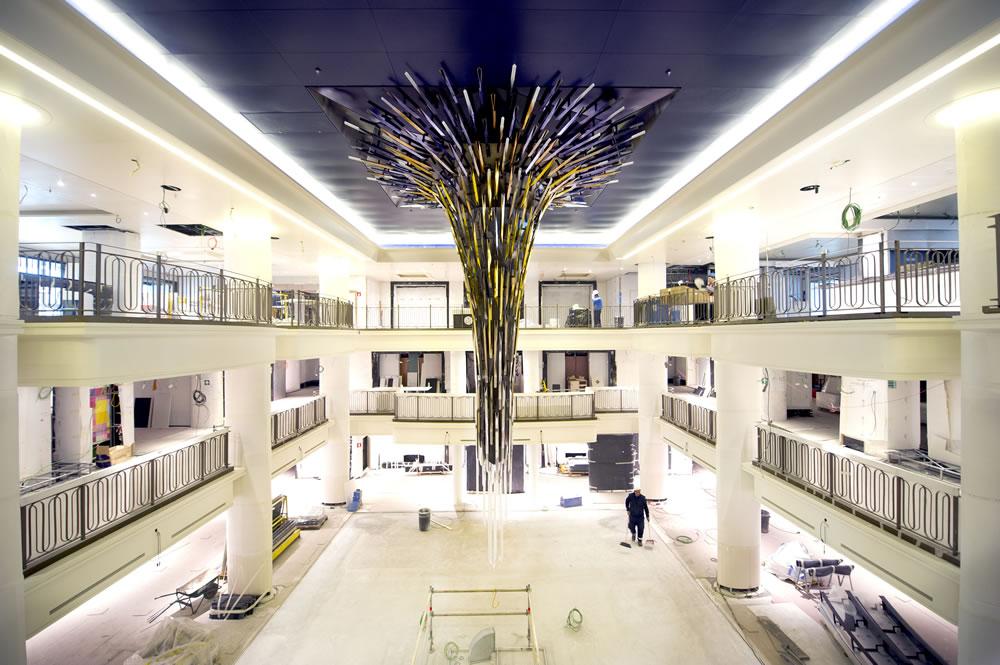 Starburst Atrium Artwork on Britannia