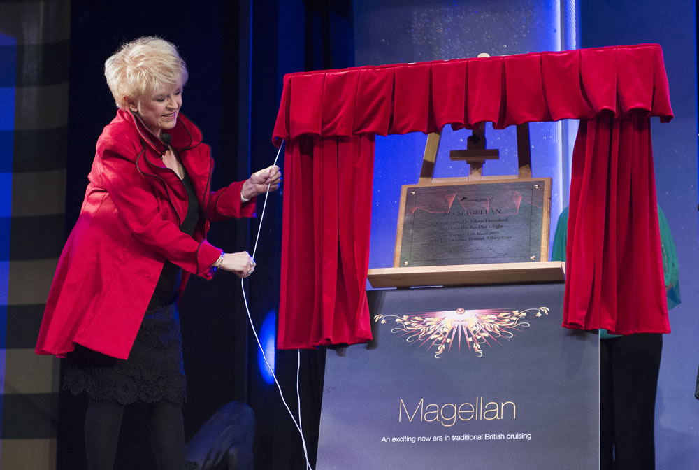 Gloria Hunniford naming Magellan