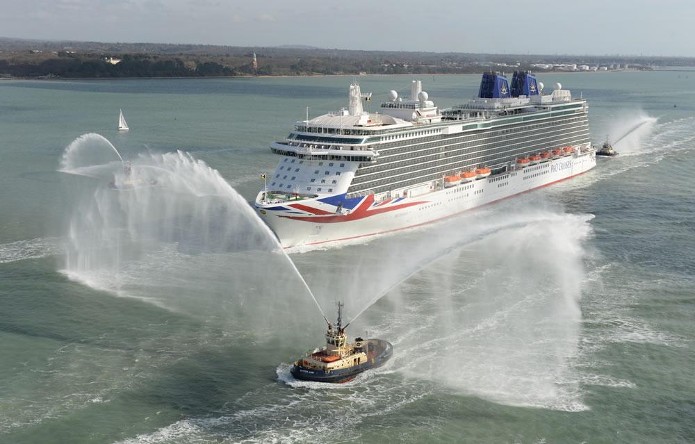 Britannia sails into Southampton