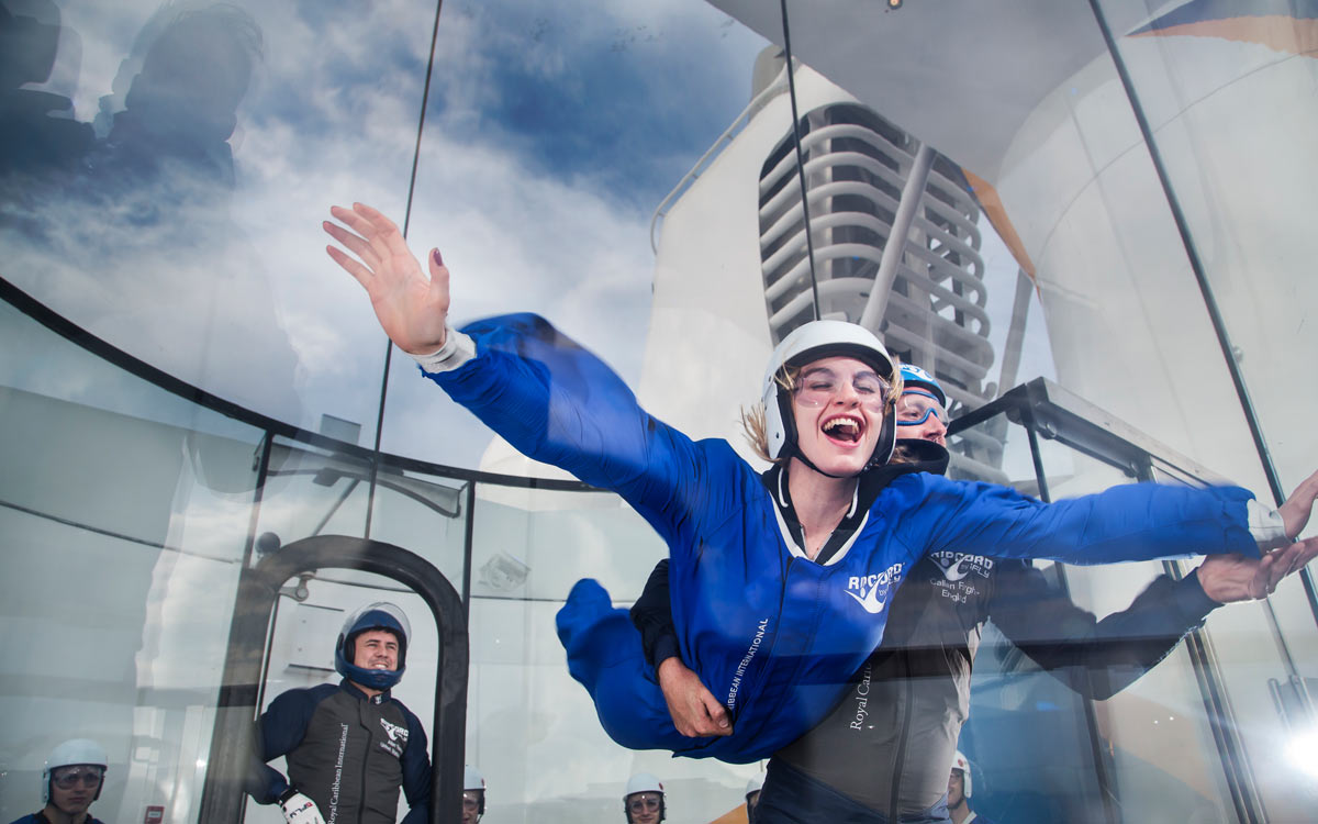 Skydiving on Anthem of the Seas
