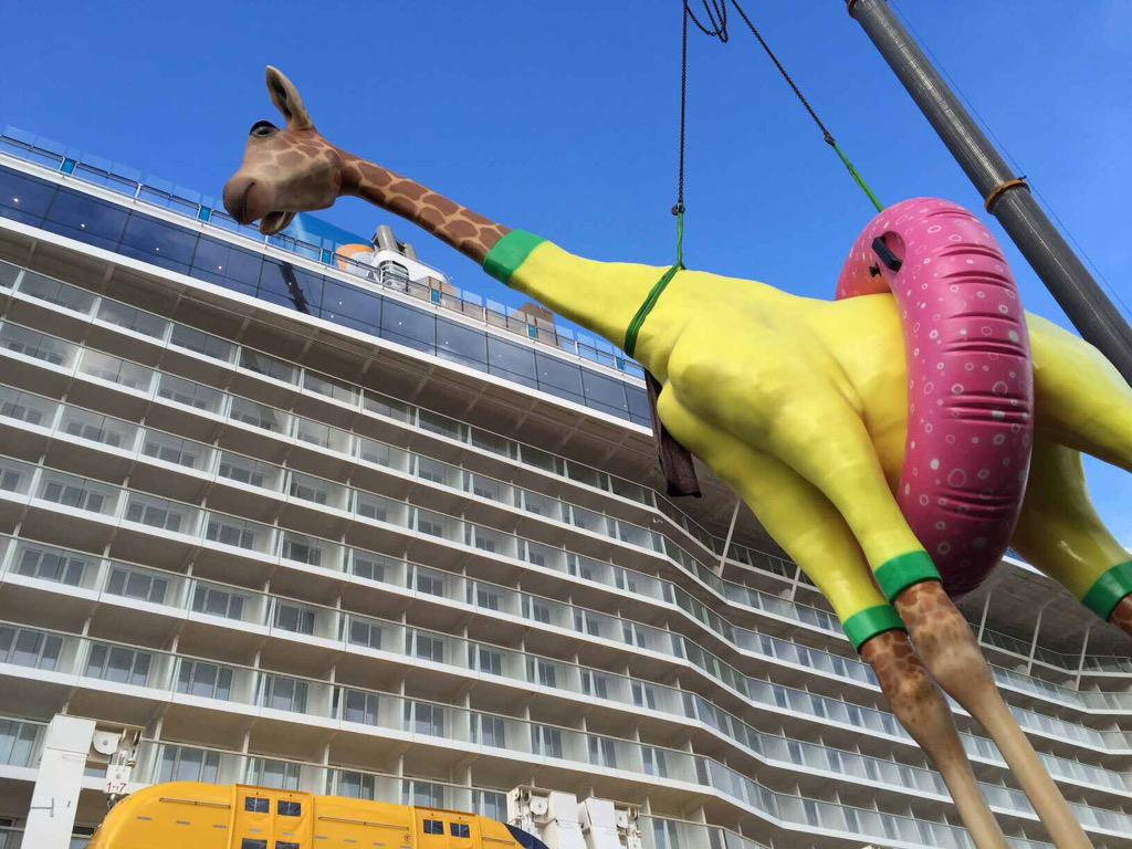Anthem of the Seas giraffe
