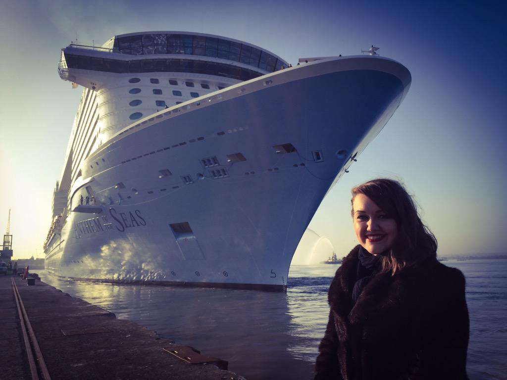 Anthem of the Seas and Emma Wilby