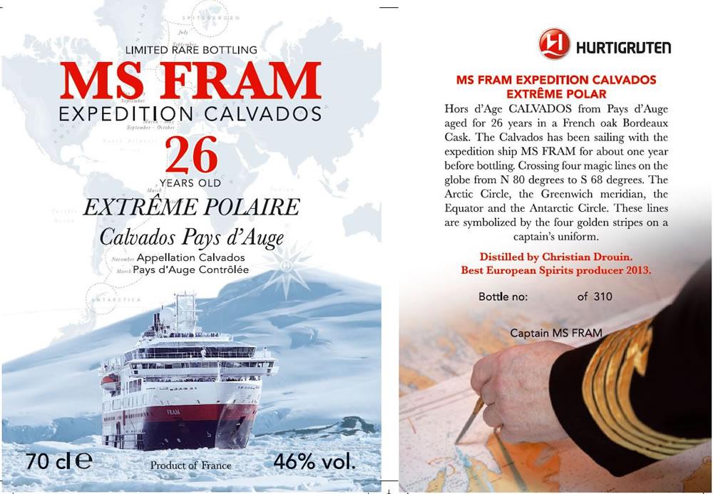 Hurtigruten Calvados Label