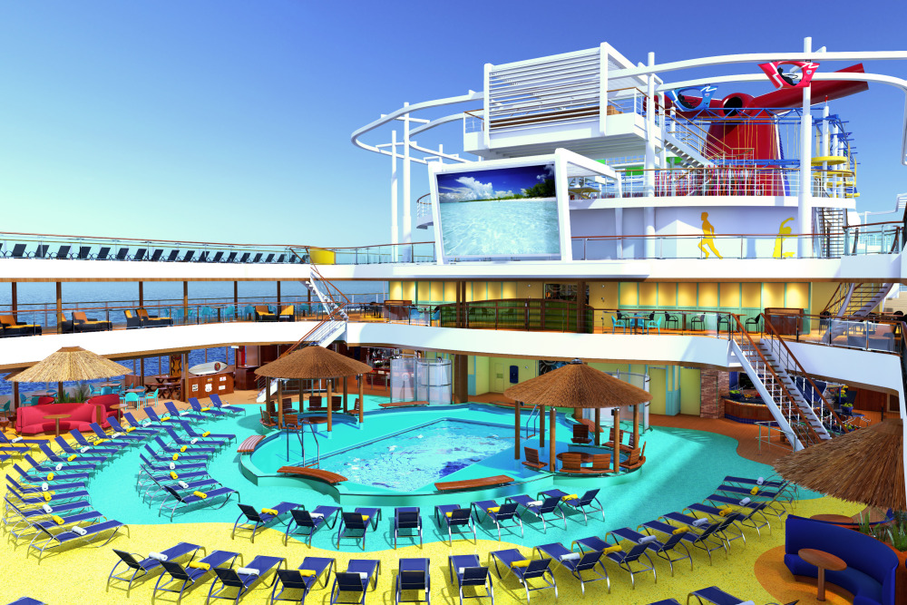 Carnival Vista pool rendering