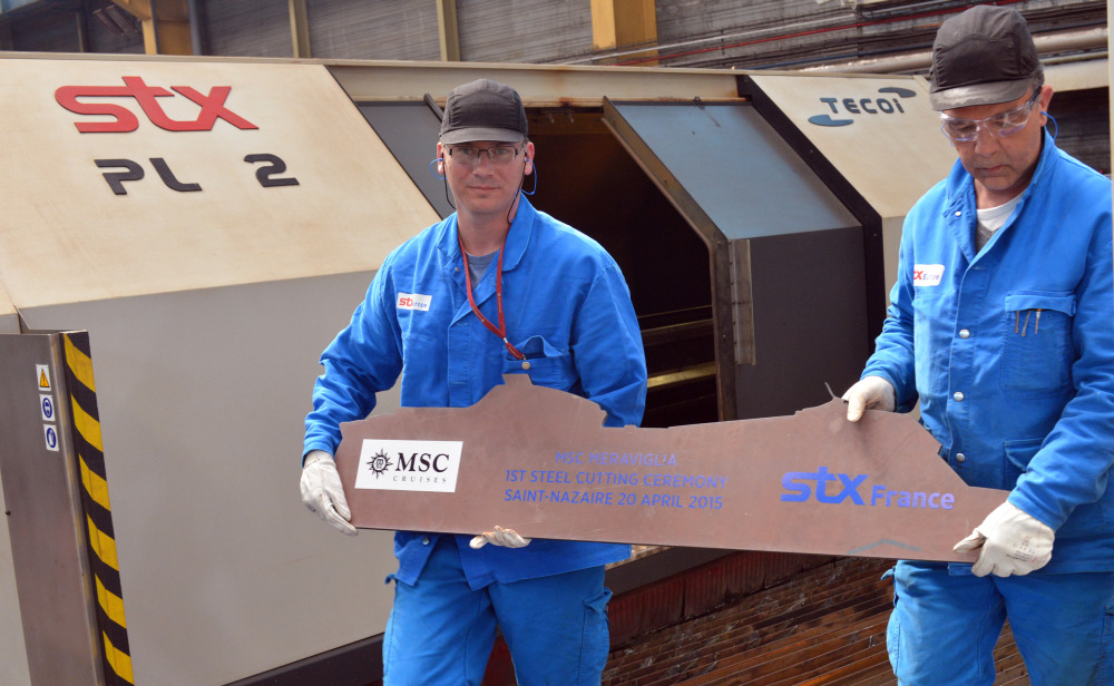 Steel cutting for MSC Meraviglia