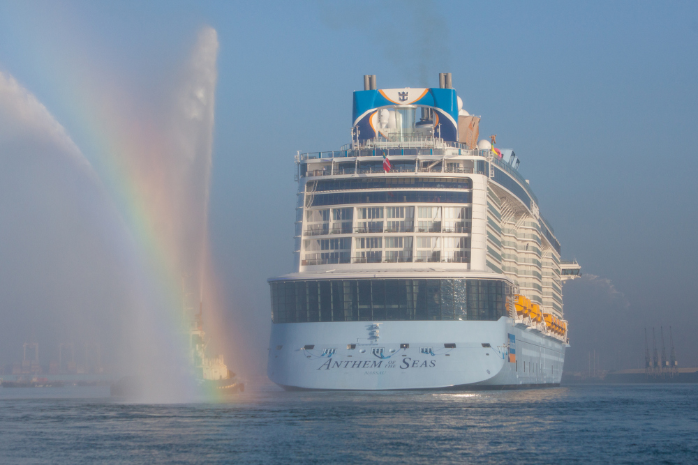 PICTURES World39s Third Largest Cruise Ship Sails Into Southampton  Worl