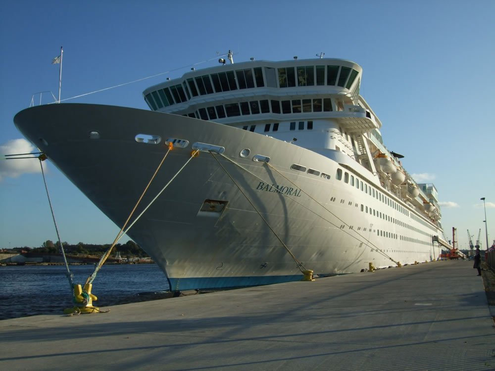 Balmoral at the Port of Tyne's Northumbrian Quay