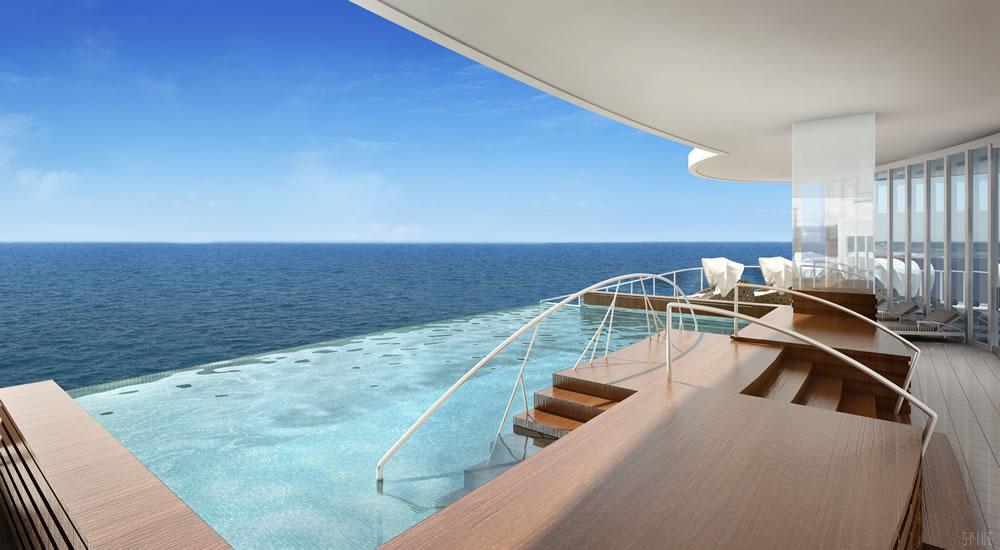 Endless pool on Seven Seas Explorer