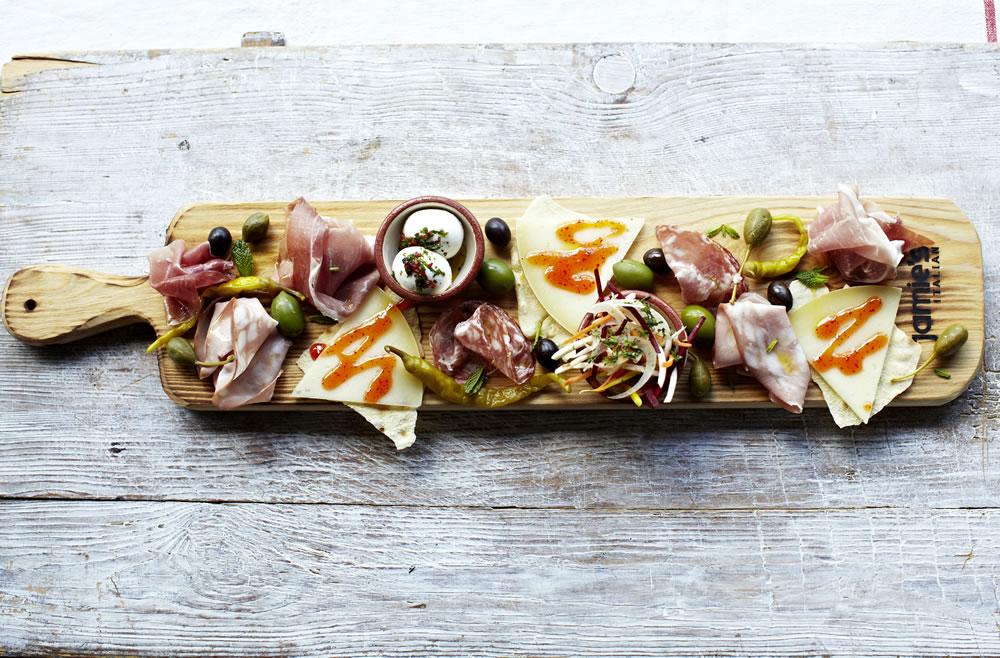 A plank from Jamie's italian