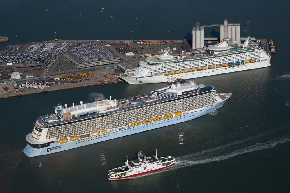 Anthem and Explorer of the Seas in Southampton
