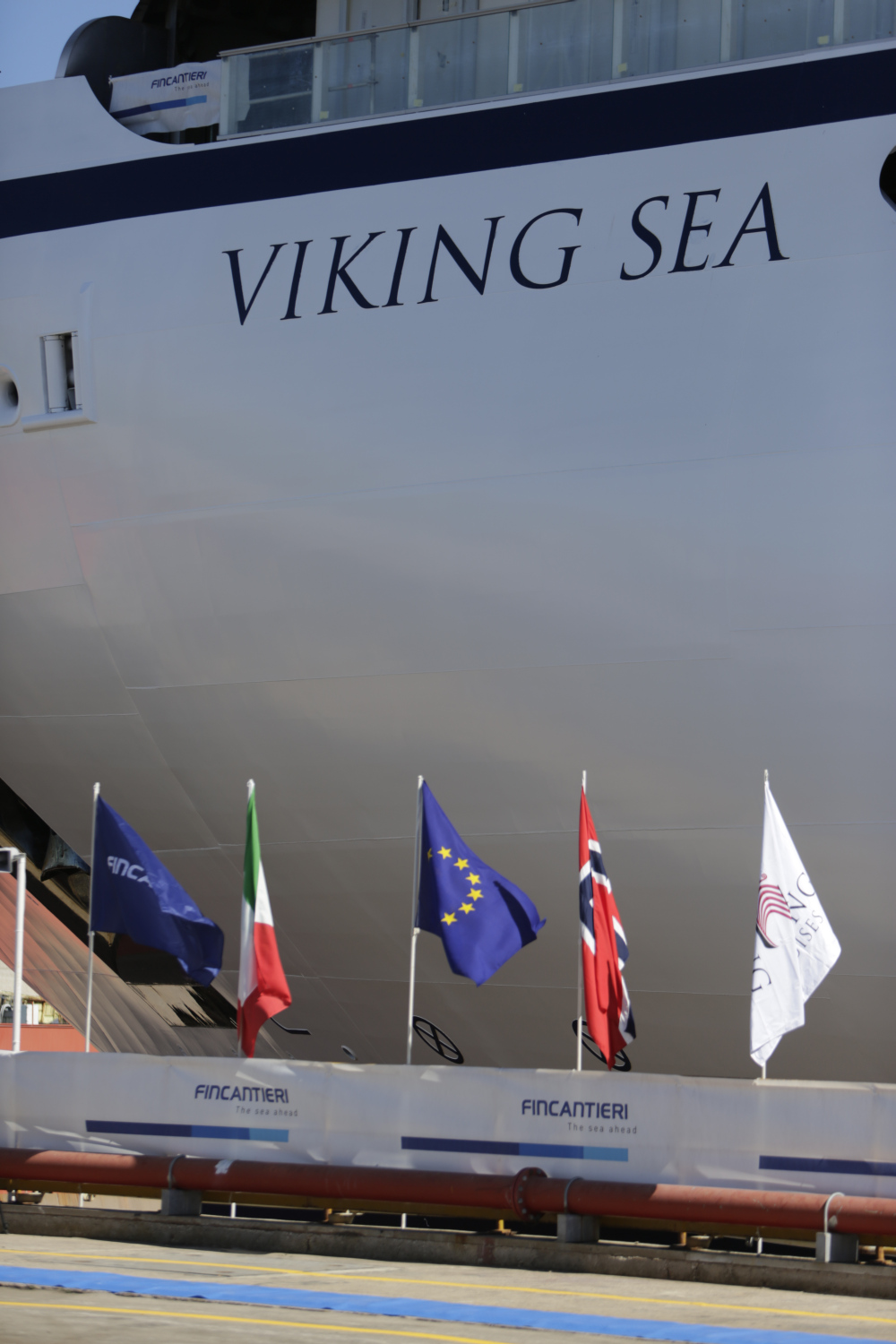 Viking Sea float-out