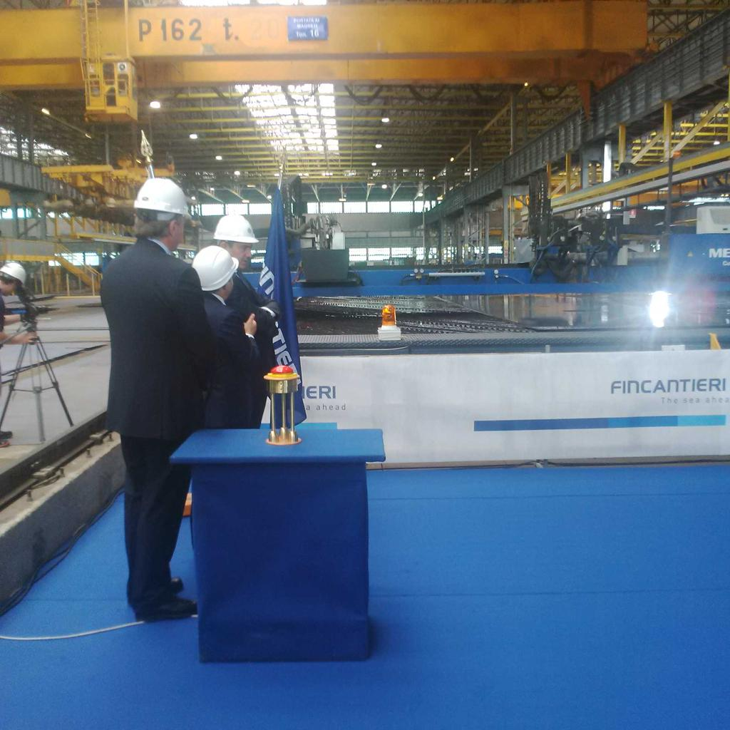 Steel cutting for MSC Seaside