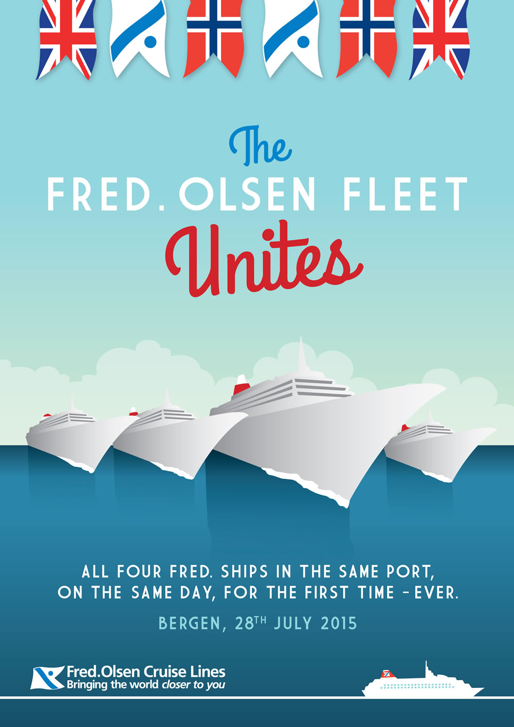 Fred. Olsen Cruise Lines' 'Four Ships in Bergen'