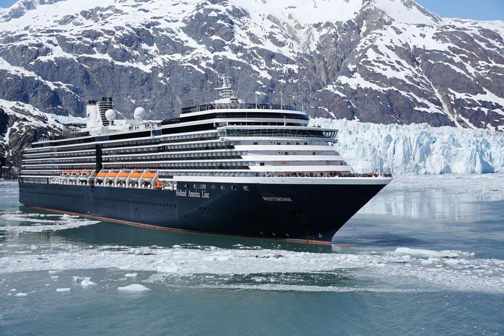 MS Westerdam in Glacier Bay