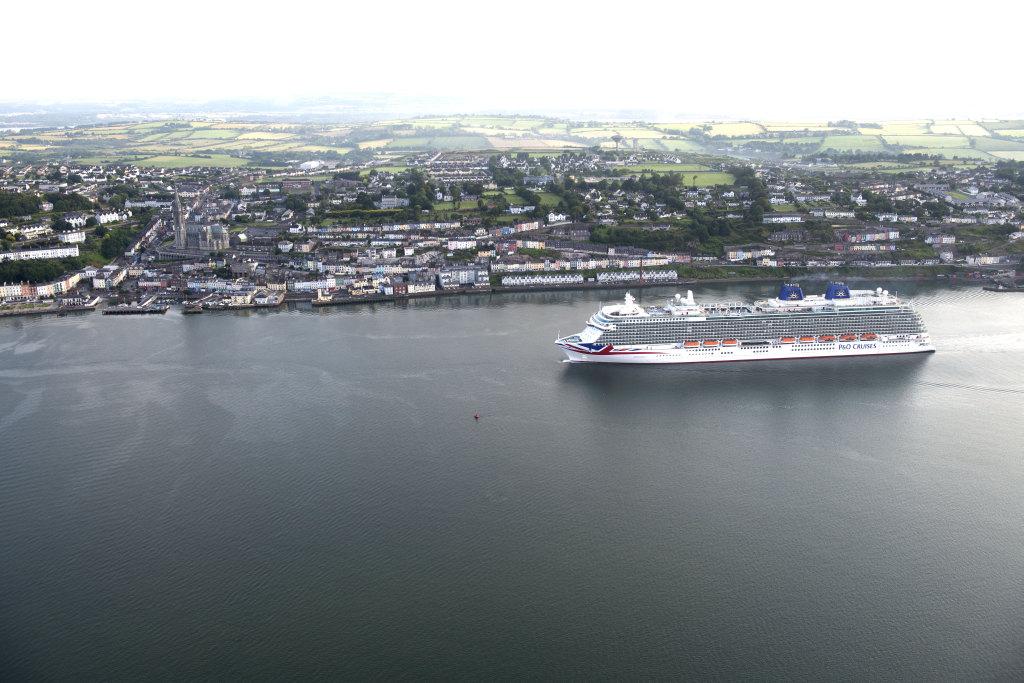 Britannia approaching Cobh quay