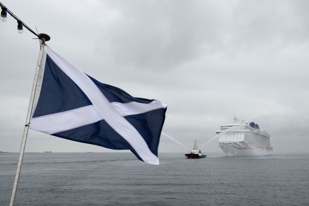 Britannia arriving off Newhaven