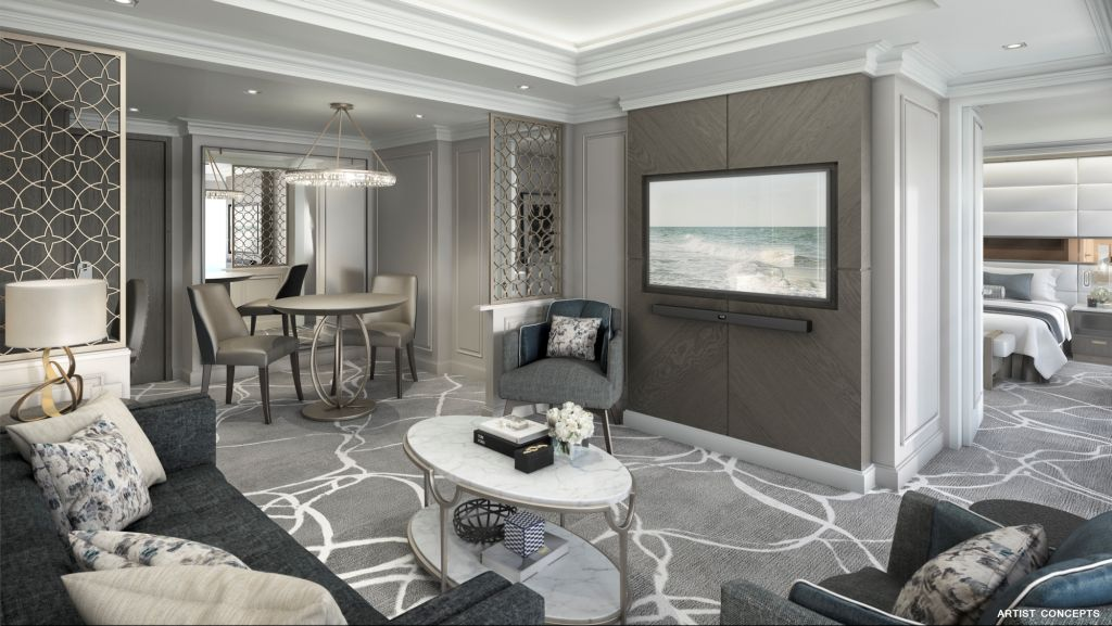 Esprit Owners Suite Living Room rendering