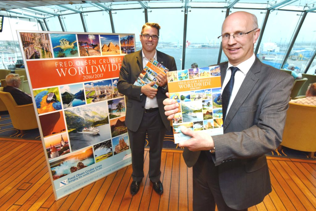 Fred. Olsen Cruise Lines' 'Worldwide Cruises 2016+17' brochure launch