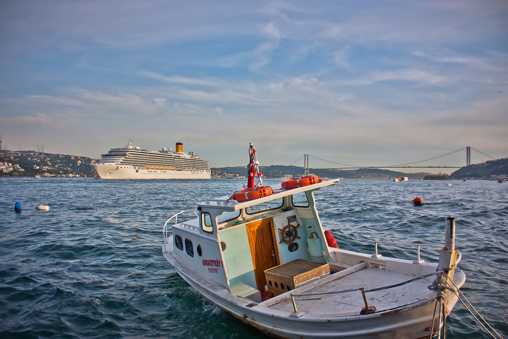 Costa Deliziosa visiting the Bosphorus in Istanbul