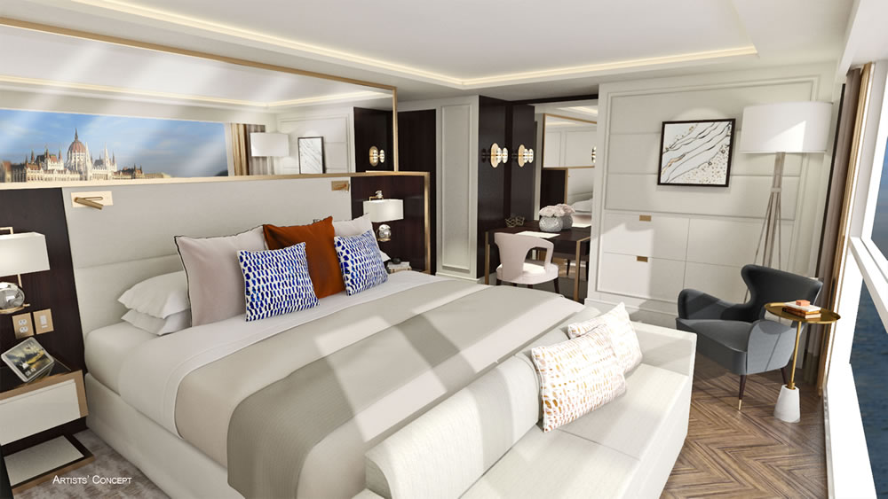 Crystal River Cruises Suite
