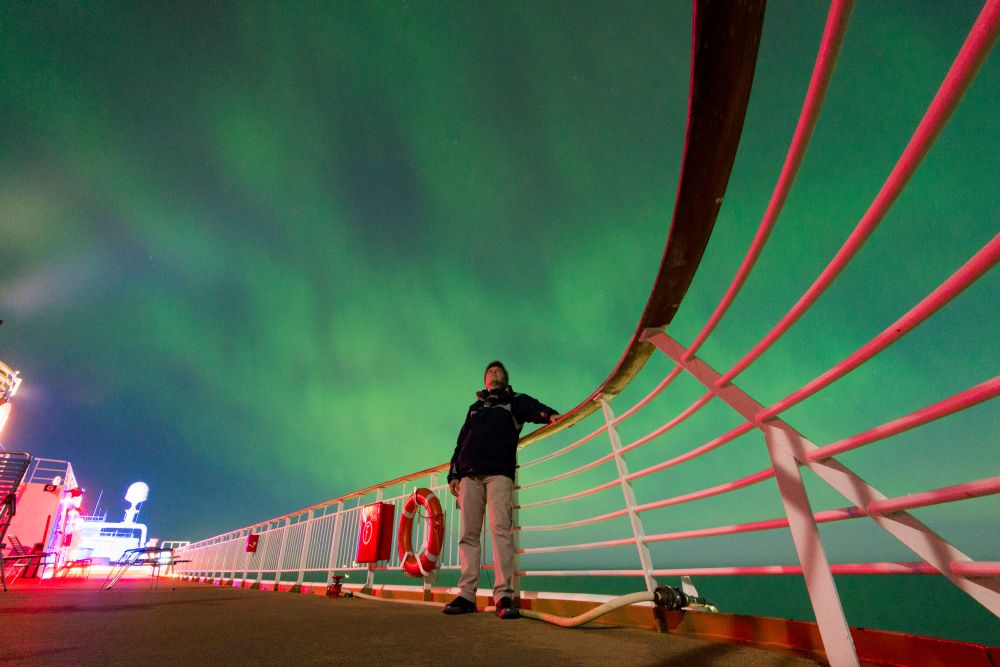 Northern Lights on MS Trollfjord