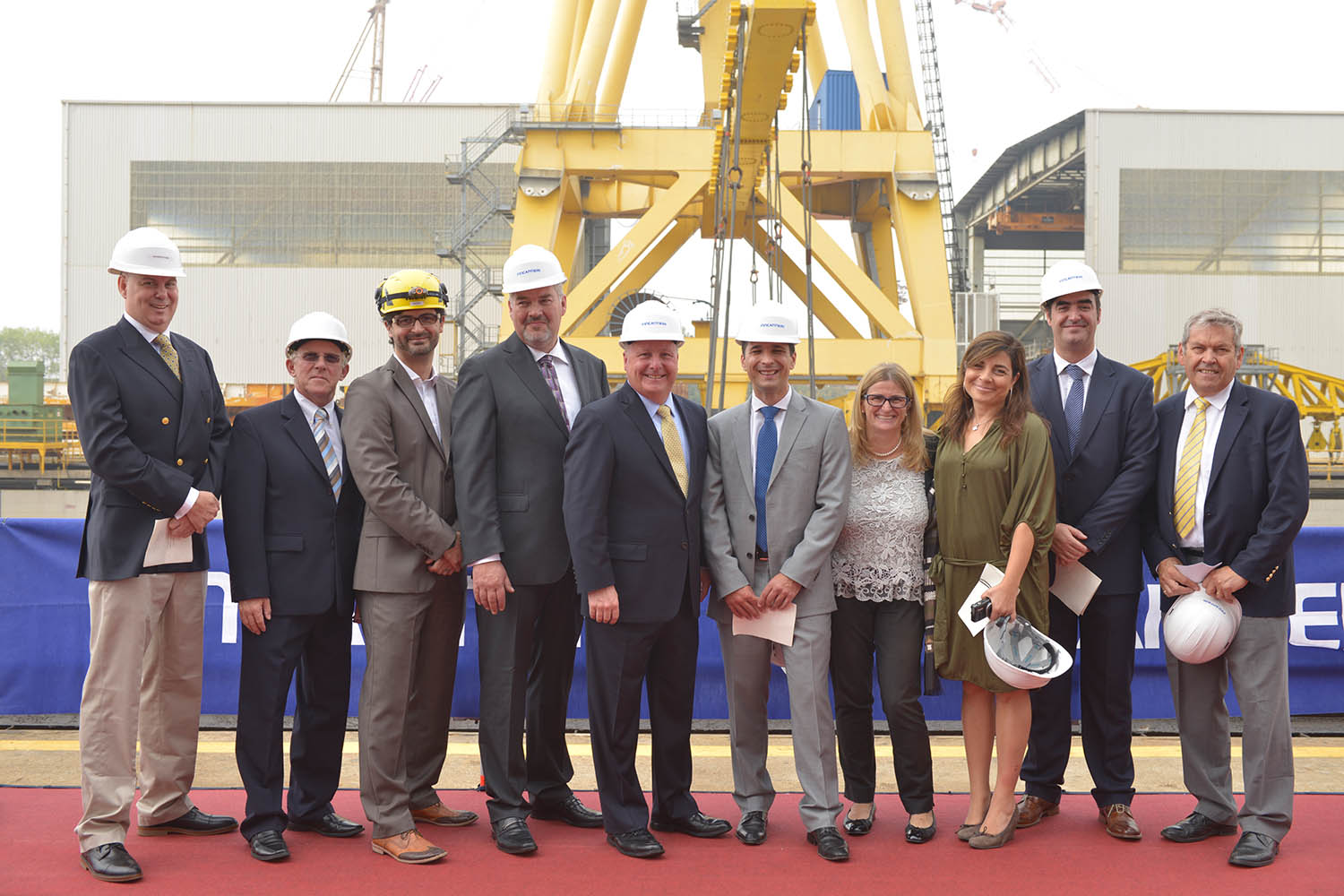 Executives from Fincantieri and Seabourn