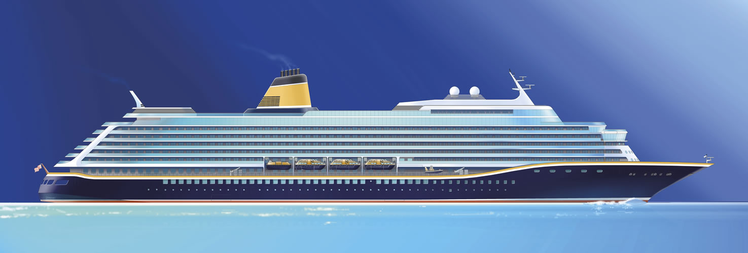 Rendering of new cruise ship