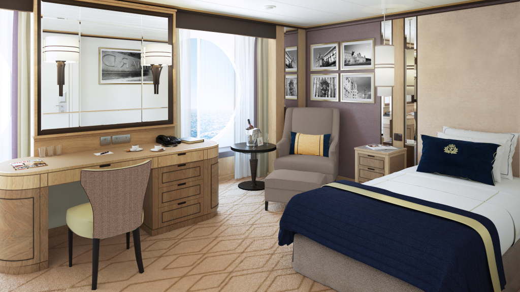 Large Britannia Single Stateroom_Rendering