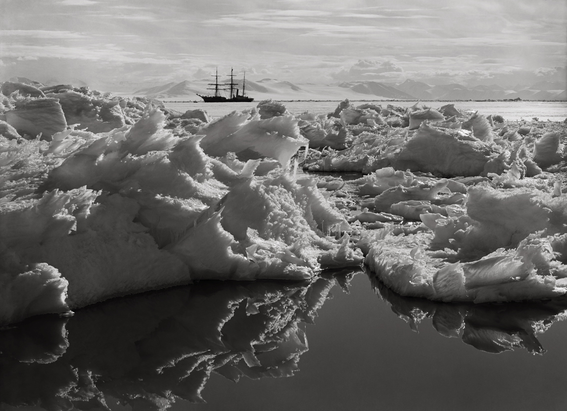 Ref 109. Beautiful broken ice, reflections and Terra Nova (7 January 1911).