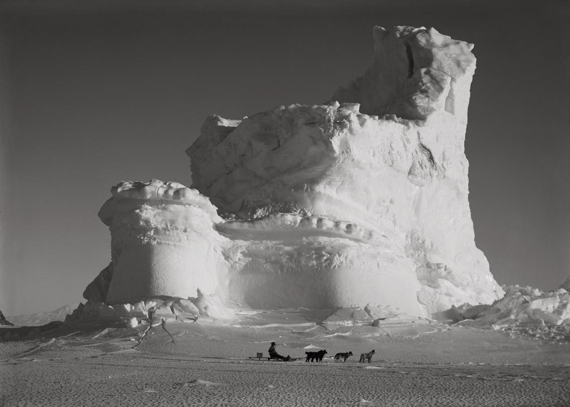 Ref 329. The Castle Berg with dog sledge (17 September 1911).