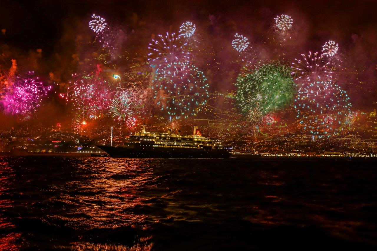 Funchal, Madeira, fireworks 2015