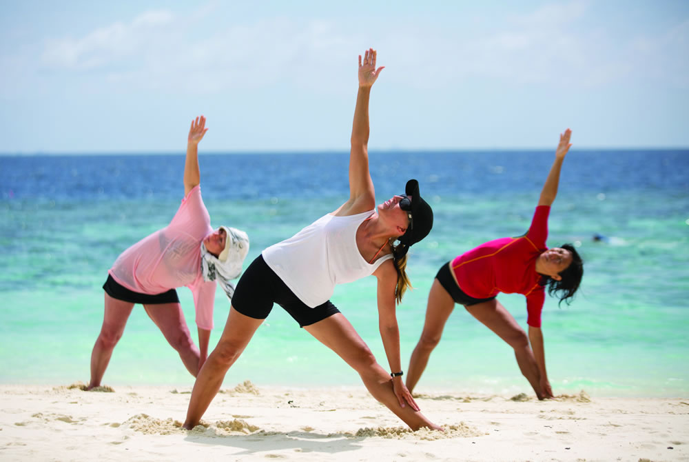 Yoga on the beach with Jenni Kauppila