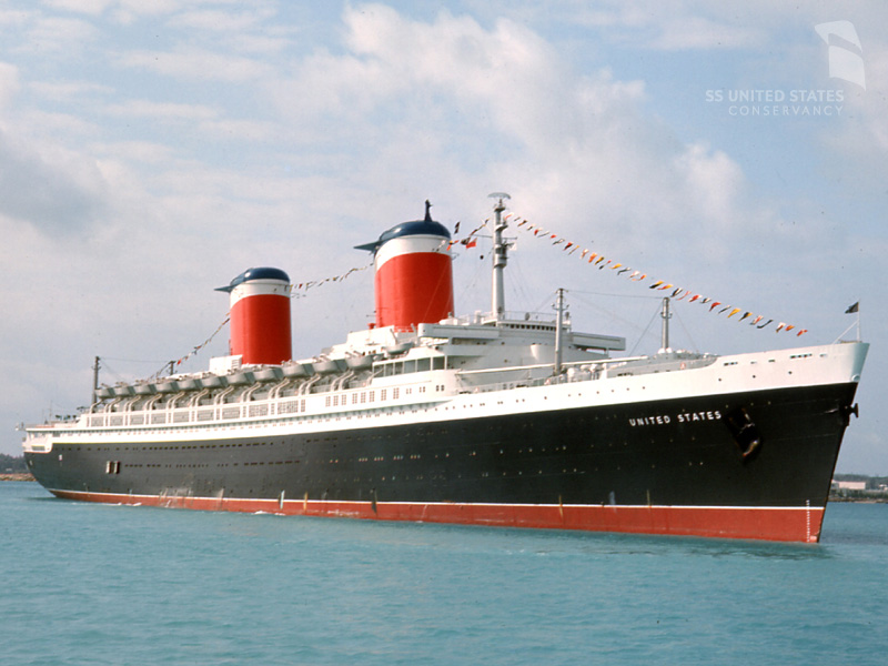 The SS United States on a cruise to St. Thomas, 1966. The SS United States took 23 cruises during her service career, in addition to 400 round-trip transatlantic crossings