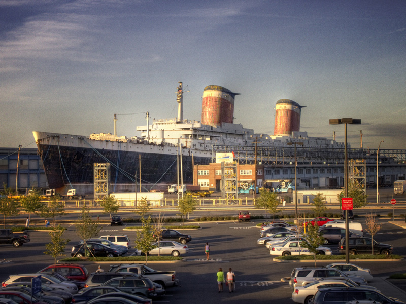 The SS United States seen from the upper windows of the South Philadelphia IKEA