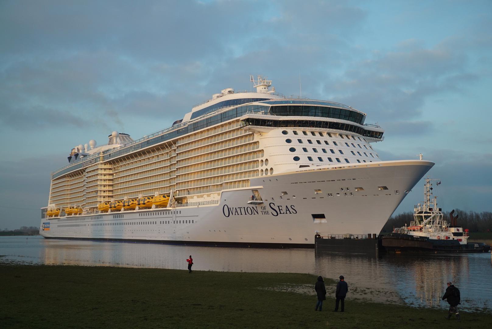 Ovation Of The Seas Leaves The Papenburg Shipyard World