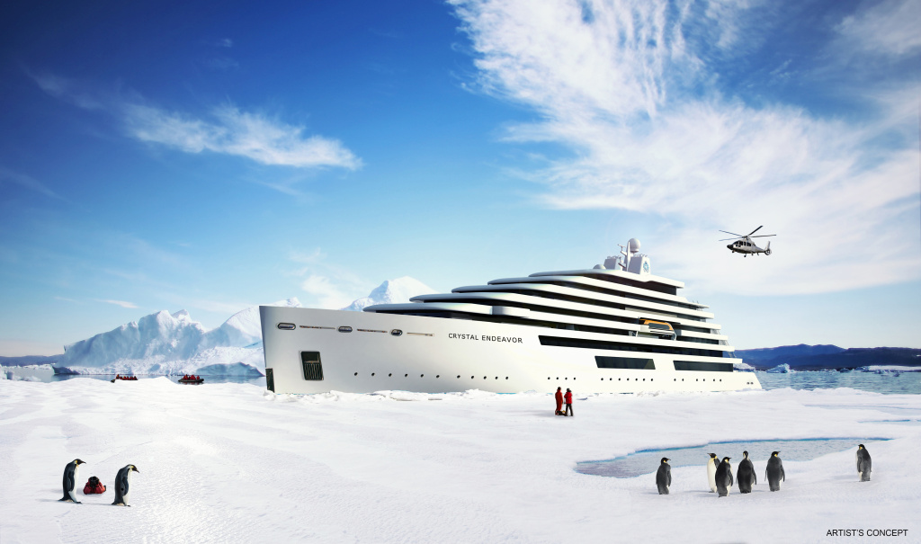 Crystal Endeavor Rendering Polar View